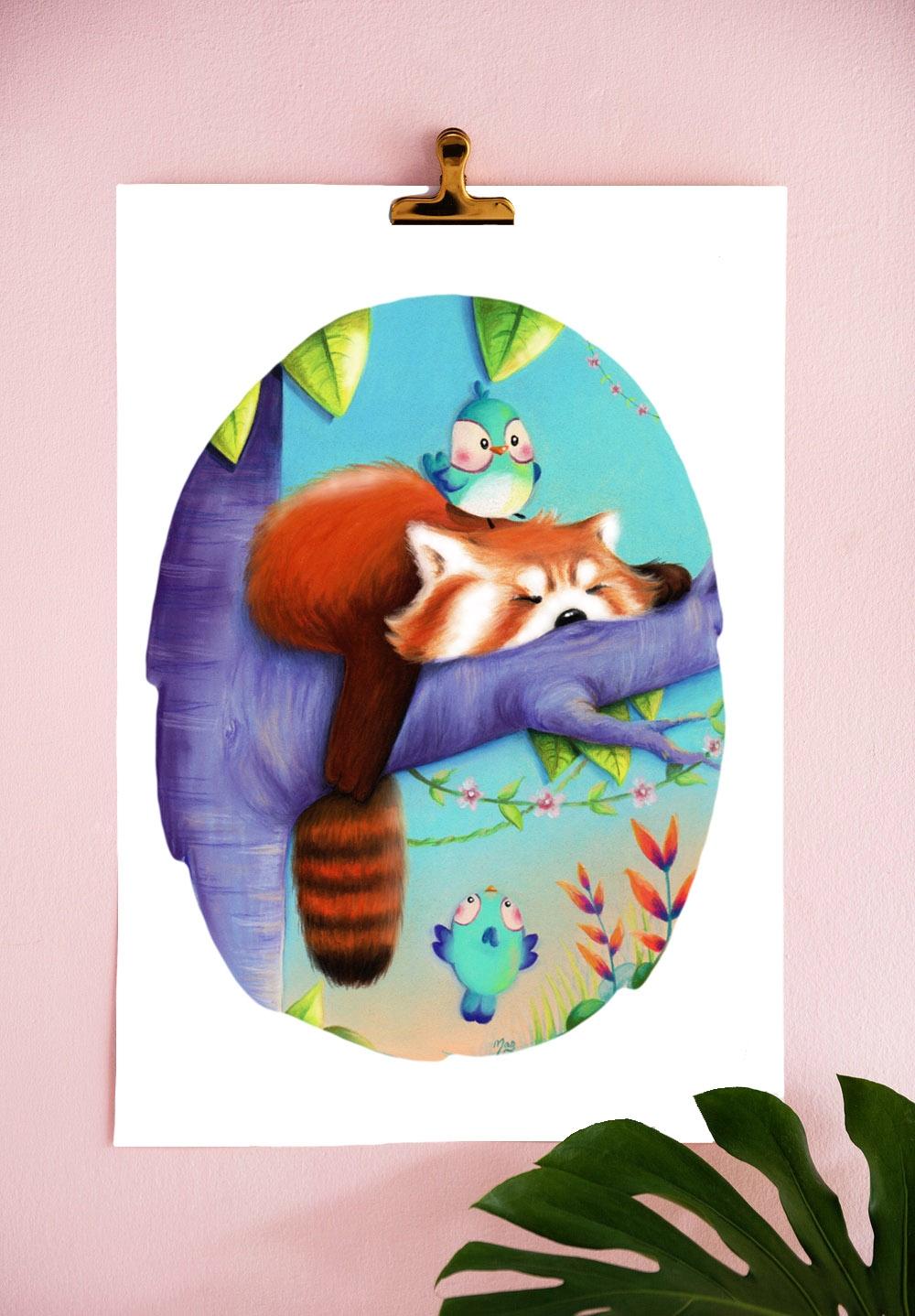 Atelier de Maguy : Panda roux